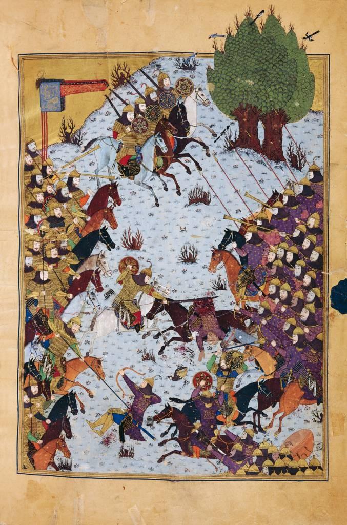 Baysonghori_Shahnameh_battle-scene