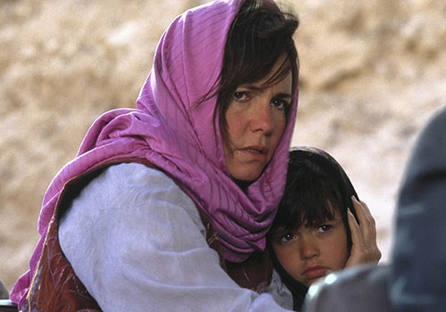 "A typical representation of Iranians and Iranian-Americans in the Western media involves Americans cowering in fear of us. The image above is from the 1991 film, ""Not Without My Daughter,"" which portrayed a perfectly nice Iranian man who goes berserk and kidnaps his white American wife and their daughter during a family trip to Iran. The film's name eventually morphed into a verb, as in, ""Don't let Ali 'Not Without My Daughter' you and the kids when he takes you to Iran this summer."""