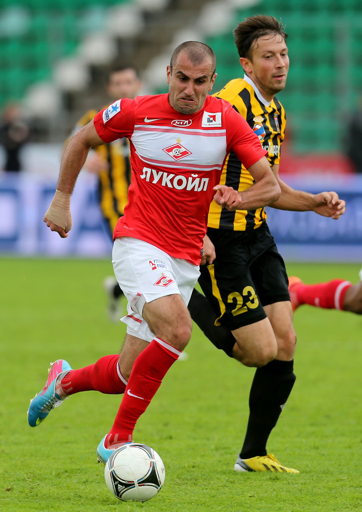 Yura Movsisyan playing for Spartak. Photograph courtesy Getty Images.