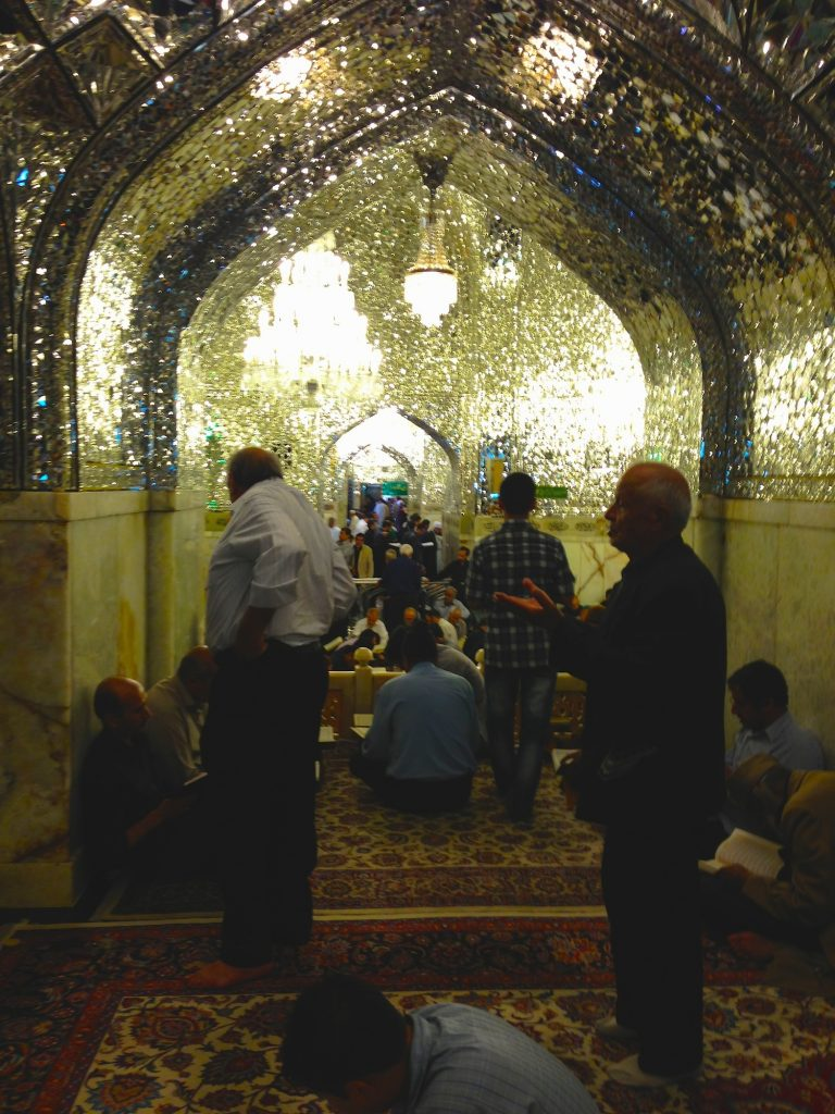 A prayer hall adjacent to the shrine