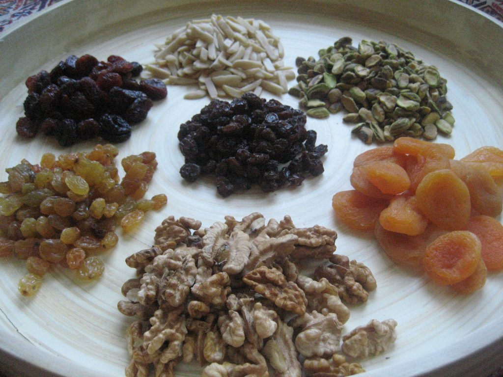 In Afghanistan, Nowruz is uniquely marked by consuming a special mix of dried fruits.