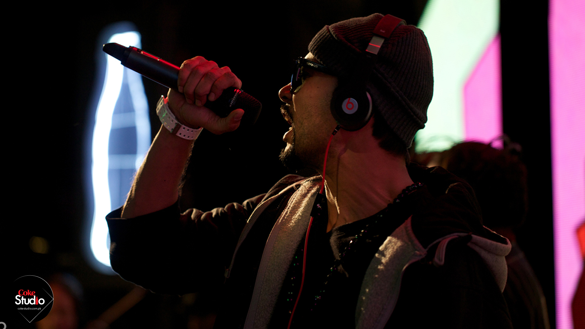 Bohemia The Punjabi Rapper performing at popular Pakistani TV music series, Coke Studio
