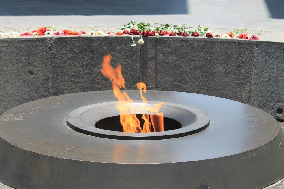 The eternal flame at the Armenian genocide memorial in Yerevan. Photo Courtesy of: Shima Houshyar.