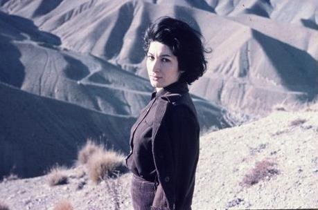 Forough Farrokhzad as photographed by Ebrahim Golestan.