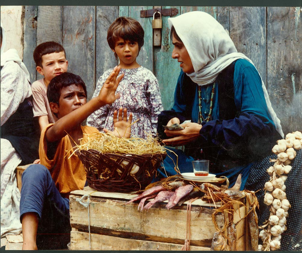 Still from the 1989 film Bashu, which featured a young boy orphaned by the Iran-Iraq War.