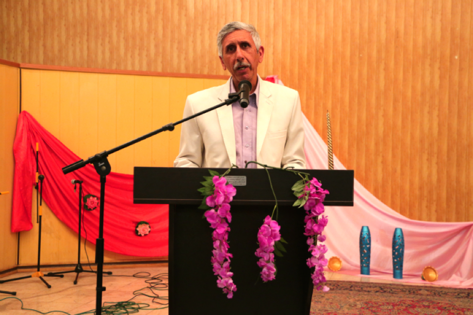 """Mobed Sohrab gives a speech about the Iranian prophet and his global message. As a representative of the Association of Tehran Mobeds, he describes how Zoroaster does not just belong to Zoroastrians; rather he was a social reformer and had a universal goal. Basing his speech on a paragraph from the Avesta, he states that Zoroaster offered his religion as a gift to people from all corners of the world. Zoroaster wanted all religions to study the ideals and philosophy of Zoroastrianism in the Gathas; to be honest; to foreground the slogan of """"Good Thoughts, Good Words, Good Deeds;"""" and to attempt to preserve the four natural elements (fire, water, air and earth) so that the world becomes replete with peace."""