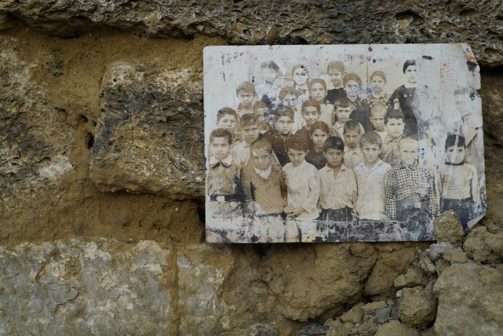A photograph of school children found in a Sovetski demolition site.
