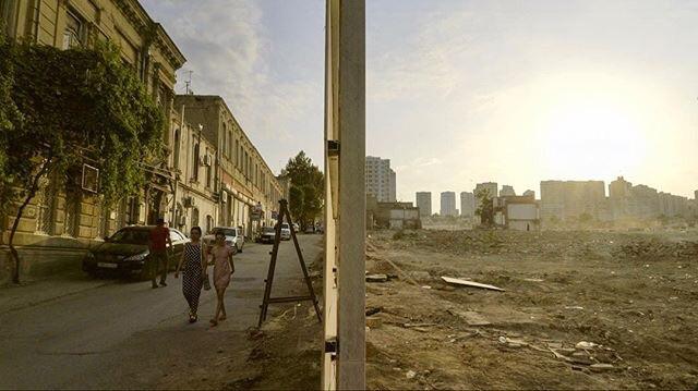The demolition of Sovetski in Baku, Azerbaijan, 2016